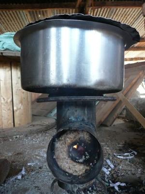 Cocina de briquetas