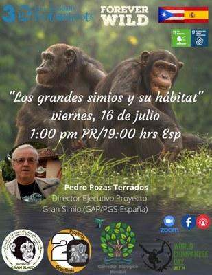 Día mundial del chimpancé. Charla en Puerto Rico.