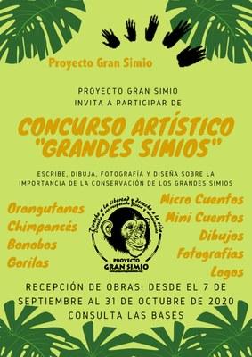 I Concurso artístico y literato en defensa de los grandes simios organizado por Proyecto Gran Simio.
