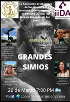 Jornada por los Grandes Simios en Argentina.