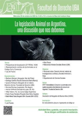La legislación Animal en Argentina, una discusión que nos debemos.