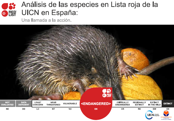 LISTA ROJA DE LAS ESPECIES EN PELIGRO DE EXTINCIÓN EN ESPAÑA (UICN)