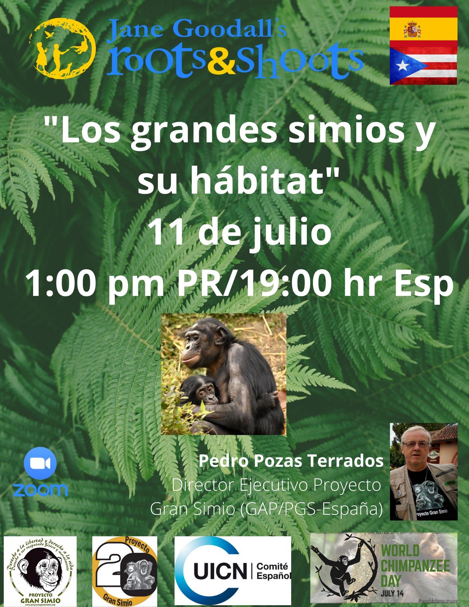 """Ponencia videoconferencia """"Los grandes simios y su hábitat"""" : Puerto Rico"""